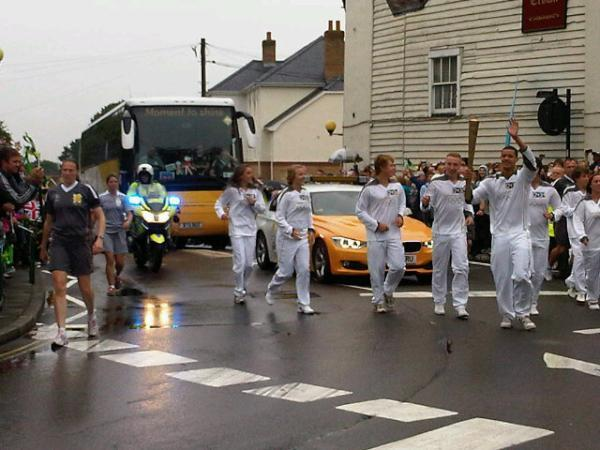 Olympic Torch Relay goes through Rayleigh