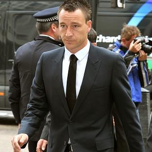 Chelsea captain John Terry arrives at Westminster Magistrates Court where he denies a racially aggravated public order offence