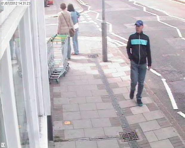 CCTV of suspected bike thief