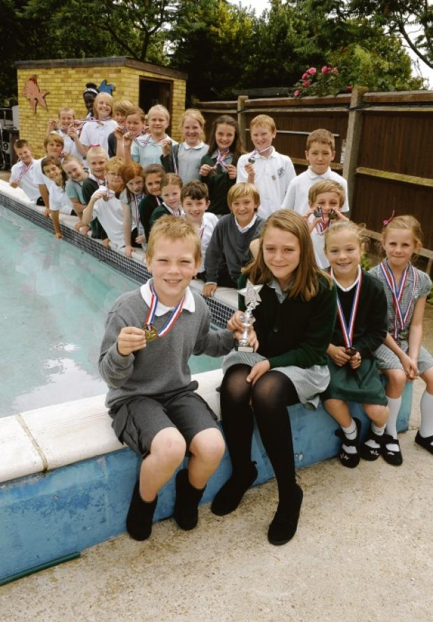 Pooling resources — the St Joseph's swimming team