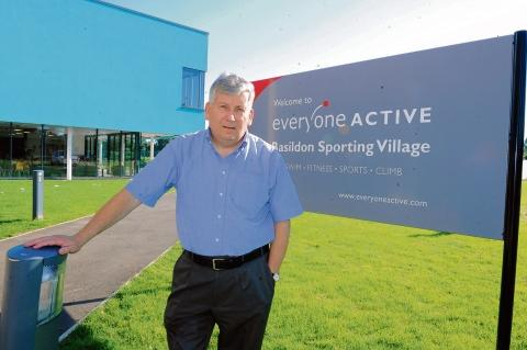 Concerned – Nigel Smith outside the Sporting Village in Basildon