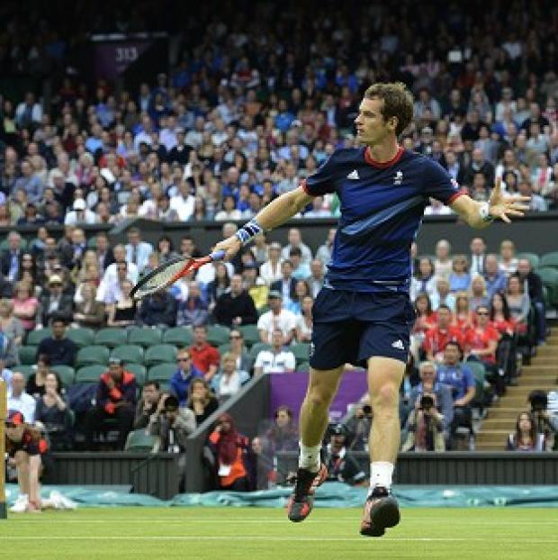 Andy Murray, pictured, is hopeful he and Laura Robson can do well in the mixed doubles