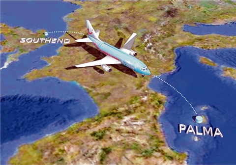 Flights – the route TUI Travel planes would take