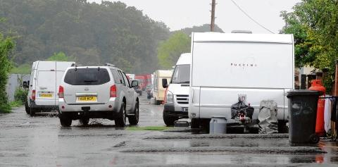 Echo: Never-ending battle – the caravans in Oak Lane which have been ordered to leave