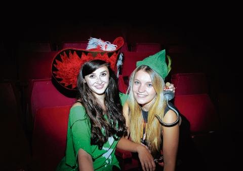 Natasha Stone as Hook and Charlotte Hills as Peter Pan