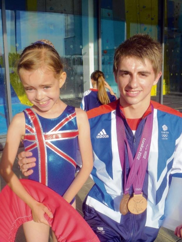 Max Whitlock thanks young fan and fellow gymnast Katie Davies