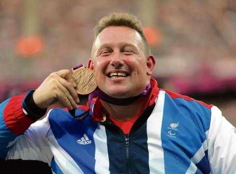 Precious metal — shot put ace Robin Womack with his Paralympic Games bronze medal