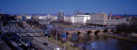 Destination – Saarbrucken, above, is one of the German cities to which OLT says its planes will fly