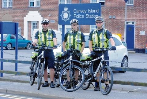 PC Adam Clarke, PC Jon Holland and Sgt Marc McQuade
