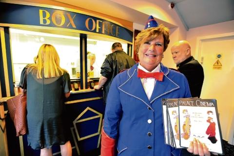 Programme seller – Ann Whittington has worked at the Palace Theatre for thirty years