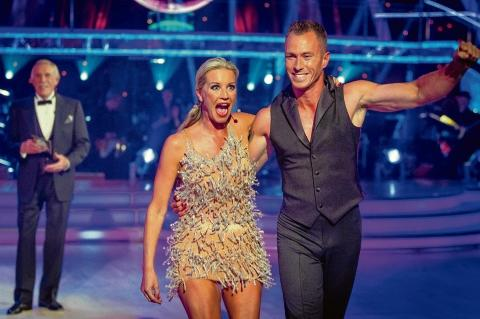 Excited – Denise Van Outen is paired with James Jordan on Strictly Come Dancing, watched by Bruce Forsyth