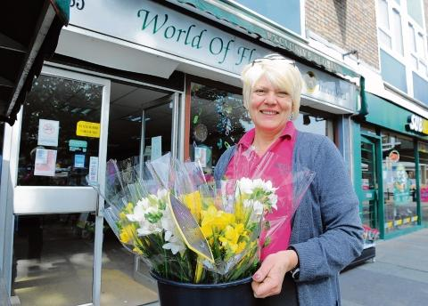 Florist Carol Turner - hopeful of a boost in trade
