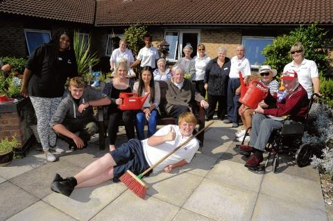 Volunteers And Residents At Ghyll Grove Nursing Home In Basildon