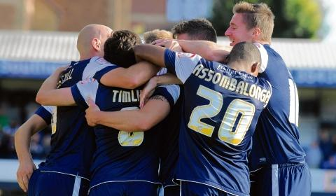 Blues celebrate Freddy Eastwood's late winner