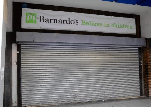 The shutters have come down for the last time on Barnardo's shop in Basildon