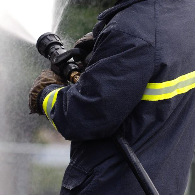Echo: Firefighters called to garages on fire in Basildon
