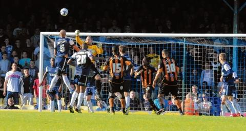 Paul Smith punches clear for Blues against Barnet