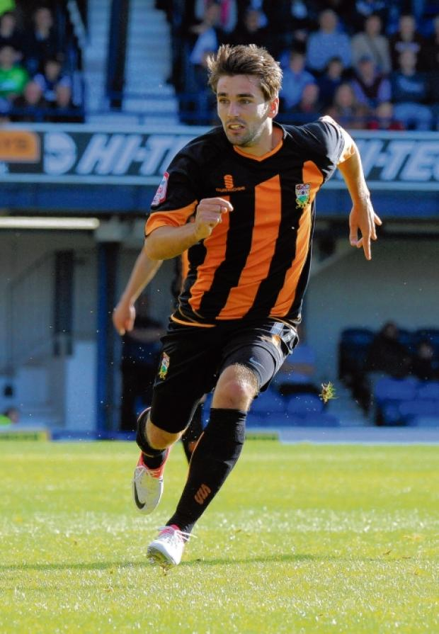 Ricky Holmes - on target for Barnet against Blues