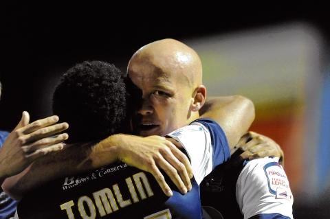 Gavin Tomlin and Ryan Cresswell - both on target for Blues