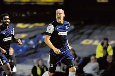 Ryan Cresswell during his spell with Southend United during the 2012/13 season