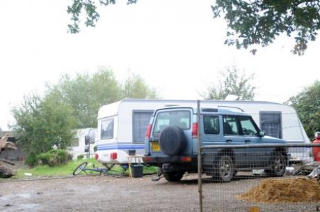 Controversial - the travellers' site off Fane Road.