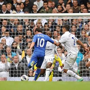 Juan Mata scores his Chelsea's second goal