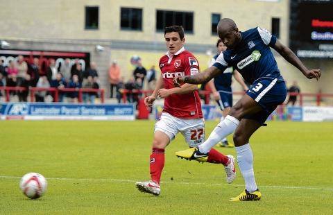 Anthony Straker - recalled in midfield for Southend United at the Kassam Stadium