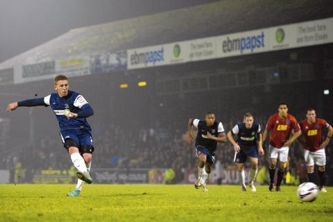 Freddy Eastwood misses from the penalty spot
