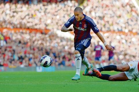 Michael Kightly in action at Old Trafford