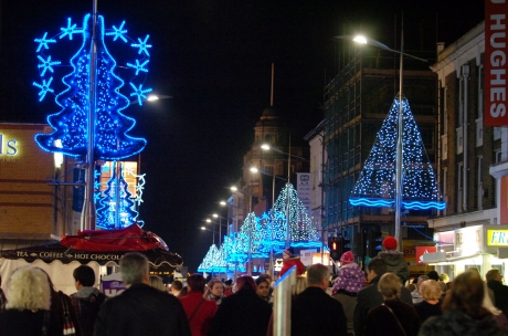 Southend Christmas lights switched on last year