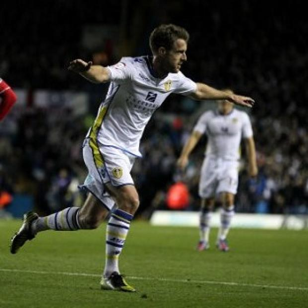 Michael Tonge celebrates his goal