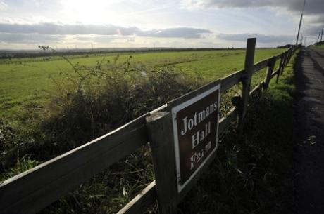 Under threat - green belt land at Jotmans Farm in Benfleet