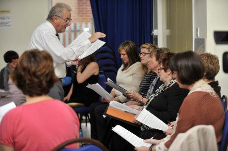 Leigh Fishwives Choir holds first rehearsal