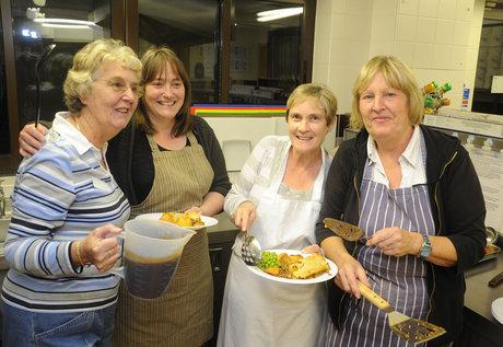 Dinner is served by volunteers at one of the Southend Churches Winter Night Shelters