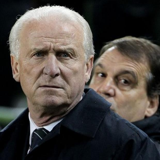 Echo: Giovanni Trapattoni saw his side slip to another defeat at the Aviva Stadium