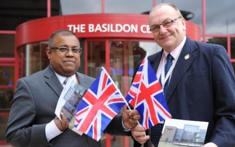 Bala Mahendran, chief executive of Basildon Council, and council leader Tony Ball