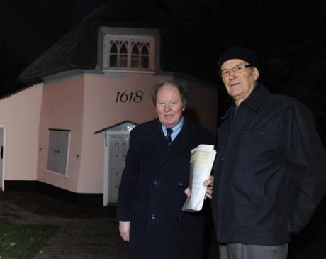 Councillor Ray Howard and his neighbour Ian Norrington