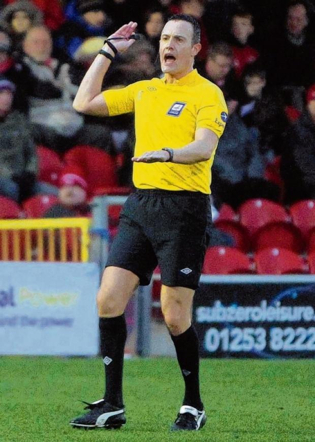 Darren Deadman - took charge of Southend United's game at Fleetwood Town on Saturday