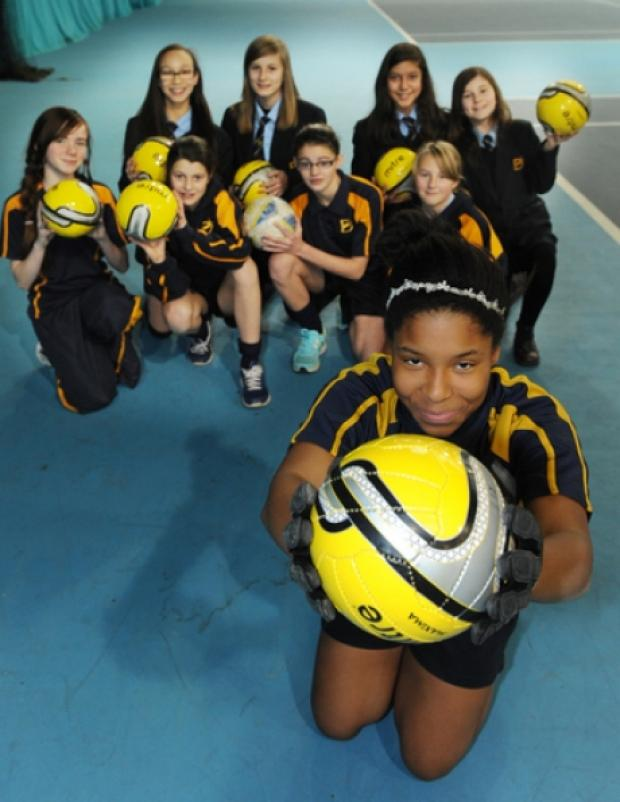 Excited - keeper Jaidene Browne and other pupils