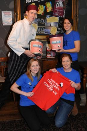 Staff at the Bread and Cheese pub in Benfleet are on a fundraising dr