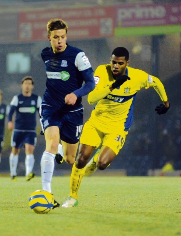 Kevan Hurst - in action for Blues against Bury