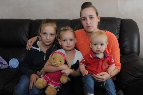 Lisa Cameron, whose five-year-old daughter Rhianna, pictured with sister Courtney and brother Kaiden, needs regular blood tests for her leukaemia