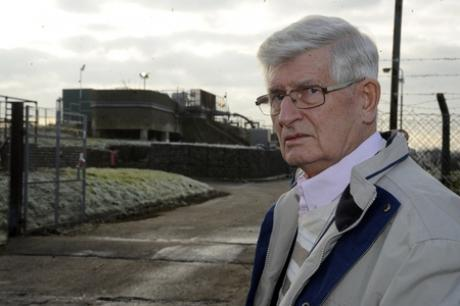 Disappointed - Castle Point councillor Alf Partridge at the Benfleet Sewage Works