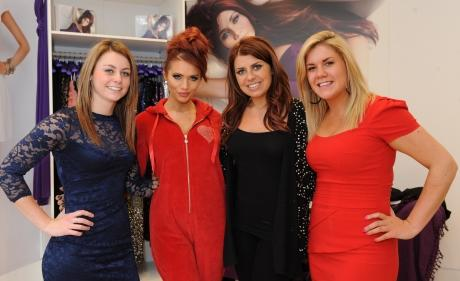 Winner Amy McDonald, reality star Amy Childs, stylist Jade Elliott and and Amy McDonald's friend Alice King