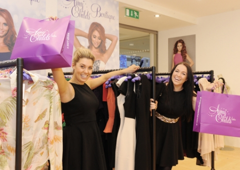 Staff Kayleigh Whiting and Charlotte Thompson in the Eastgate Centre's Amy Childs Boutique
