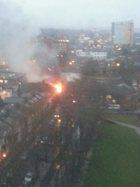 Firefighters tackle a blazing building in Southend town centre