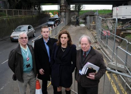 On the case - councillors Colin Riley, Andrew Sheldon, MP Rebecca Harris and Ray Howard