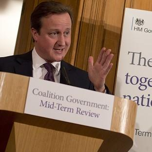 David Cameron at the launch the mid-term review