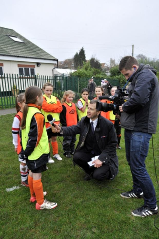 A film crew from Sky Sports were in Rayleigh at the weekend
