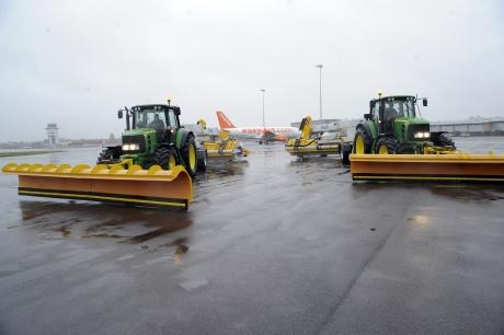 Snow ploughs ready for action at Southend Airport